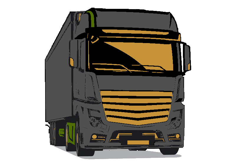 illustration de vecteur camion